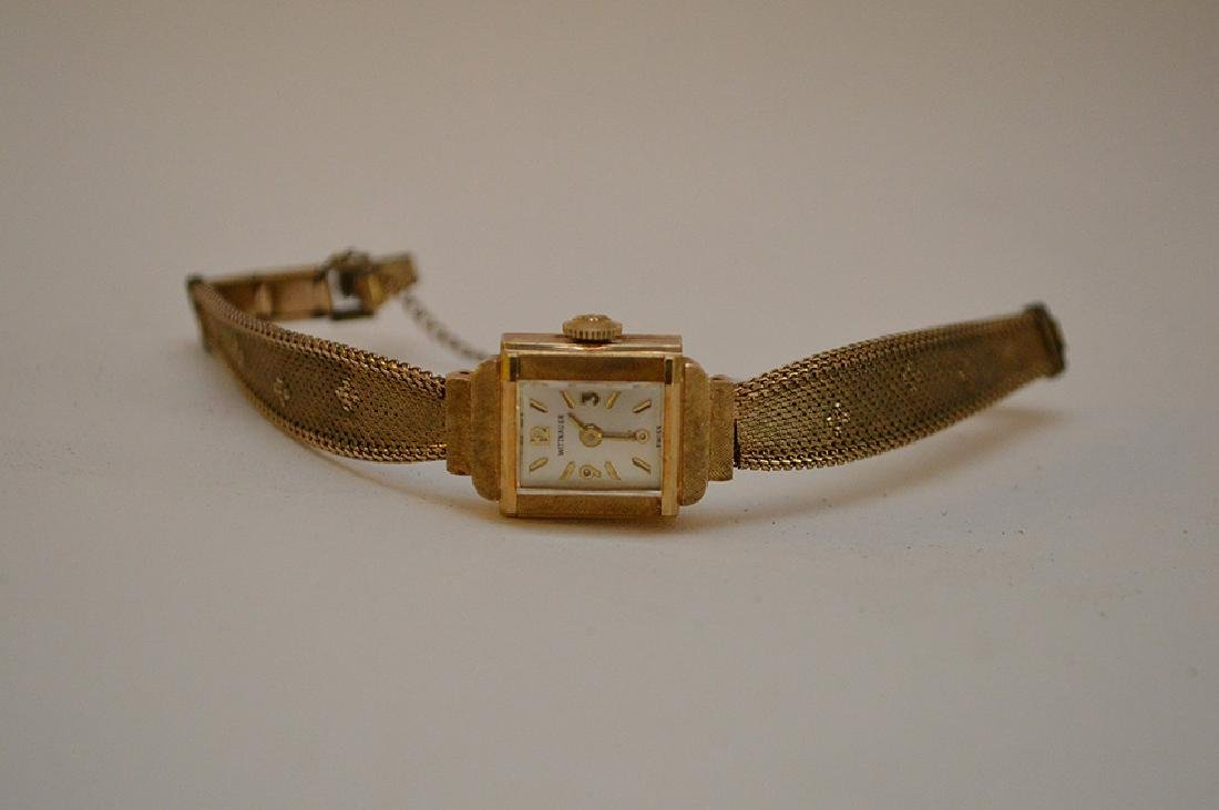Wittnauer 14kt yellow gold women's watch, (casing only) - 8