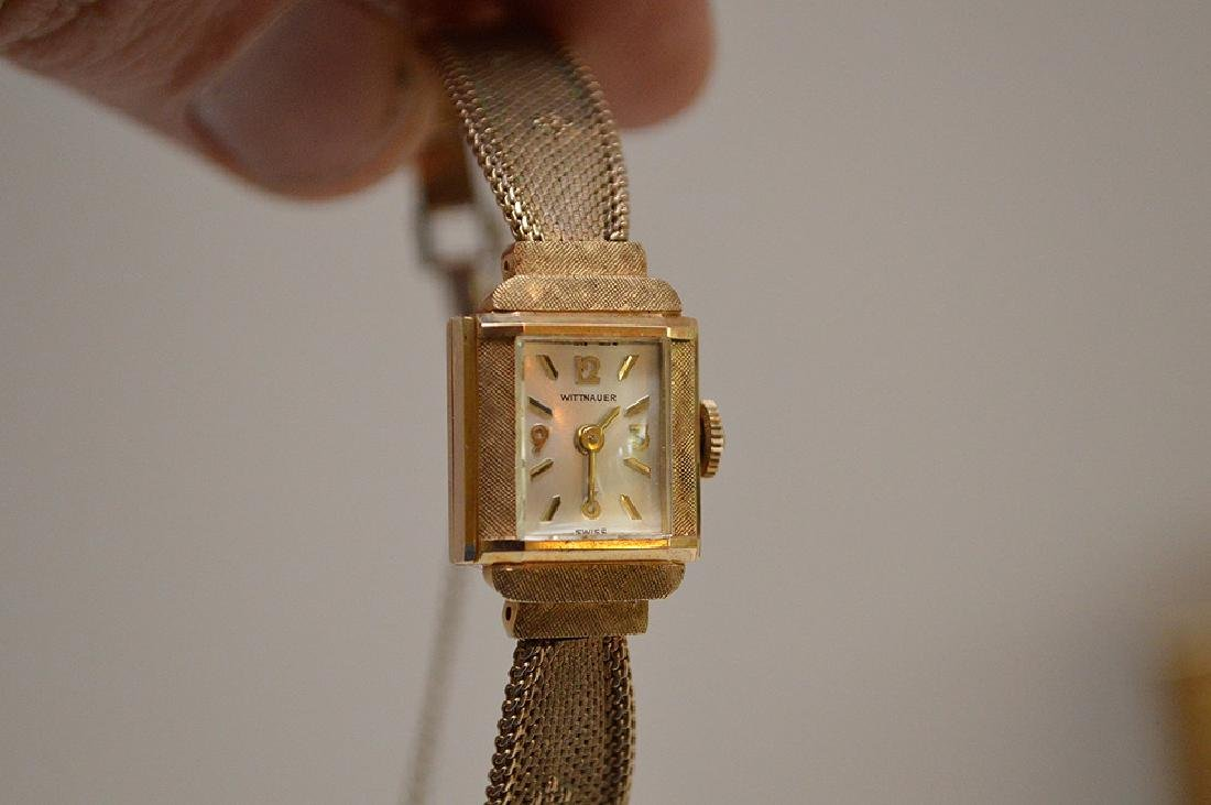 Wittnauer 14kt yellow gold women's watch, (casing only) - 9
