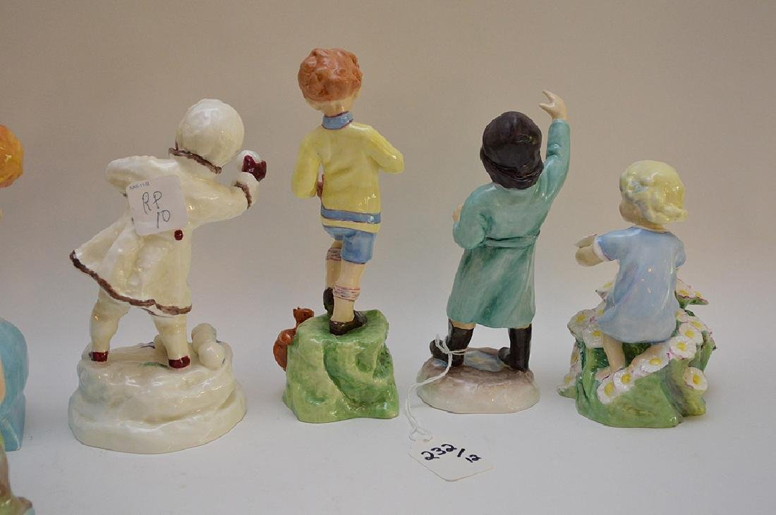 12 Royal Worcester fine bone china figurines modeled by - 10