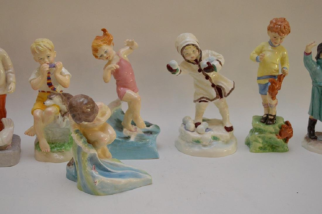 12 Royal Worcester fine bone china figurines modeled by - 3