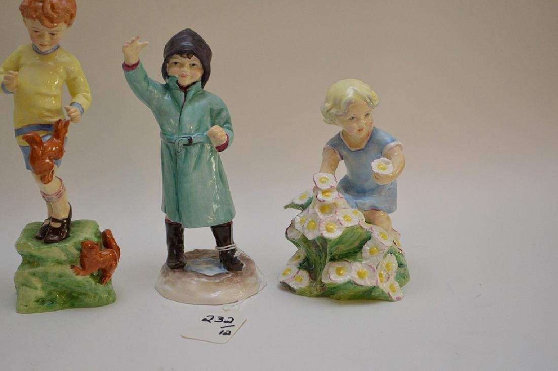 12 Royal Worcester fine bone china figurines modeled by - 4