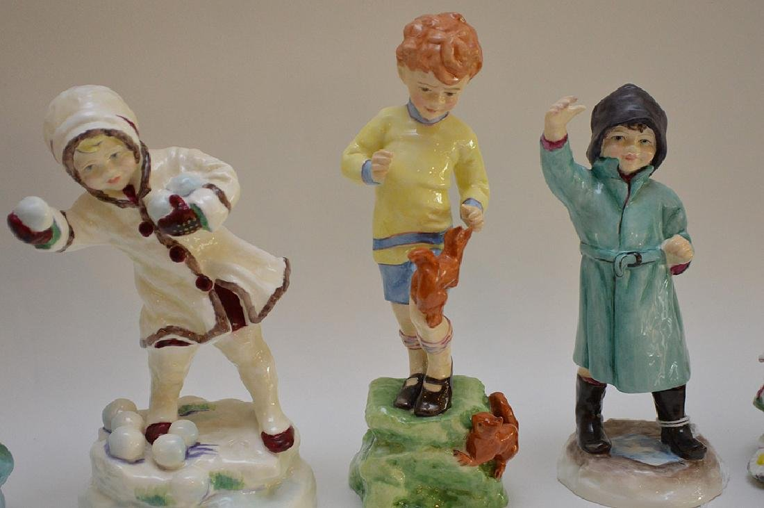 12 Royal Worcester fine bone china figurines modeled by - 8