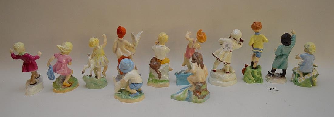 12 Royal Worcester fine bone china figurines modeled by - 9