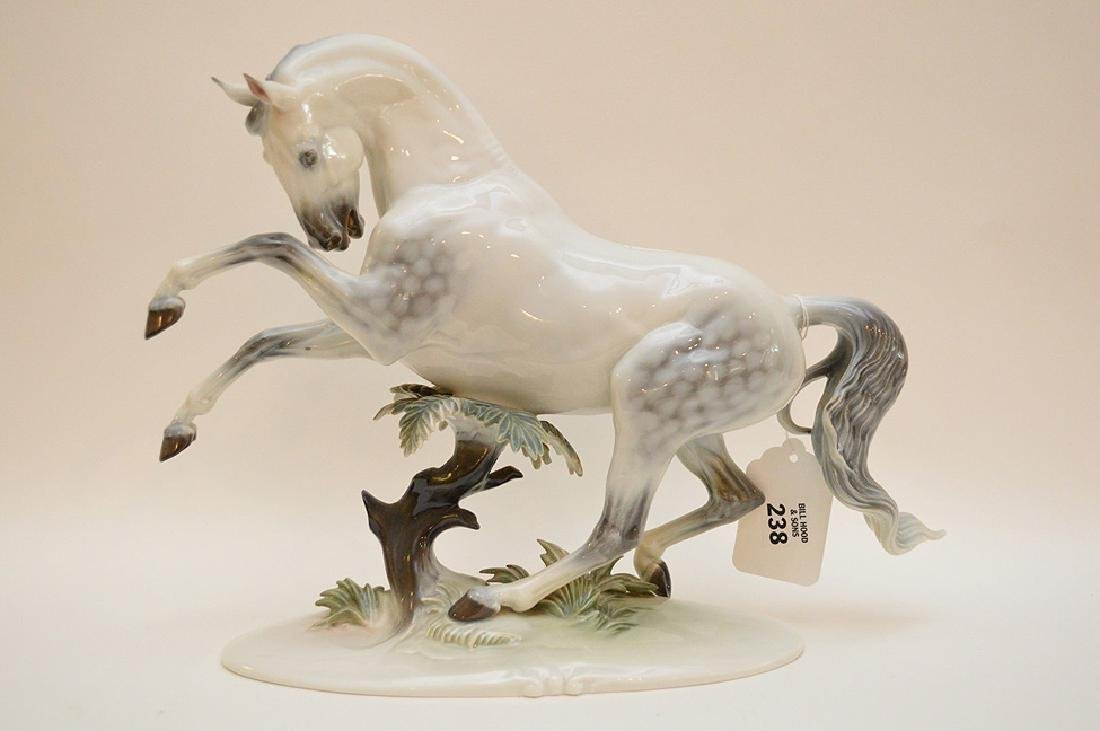 "Rosenthal Germany Handgemalt Horse Figurine 12"" x 15.5"""