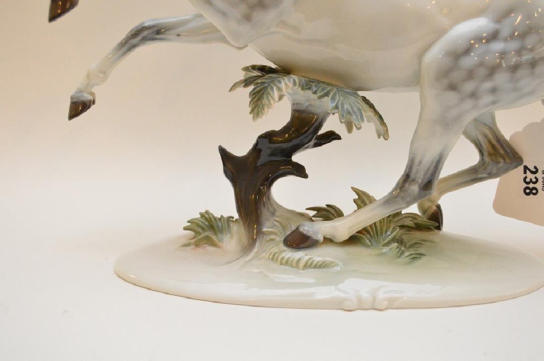"Rosenthal Germany Handgemalt Horse Figurine 12"" x 15.5"" - 4"