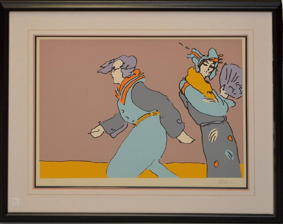 Peter Max (American, born 1937) colored lithograph,