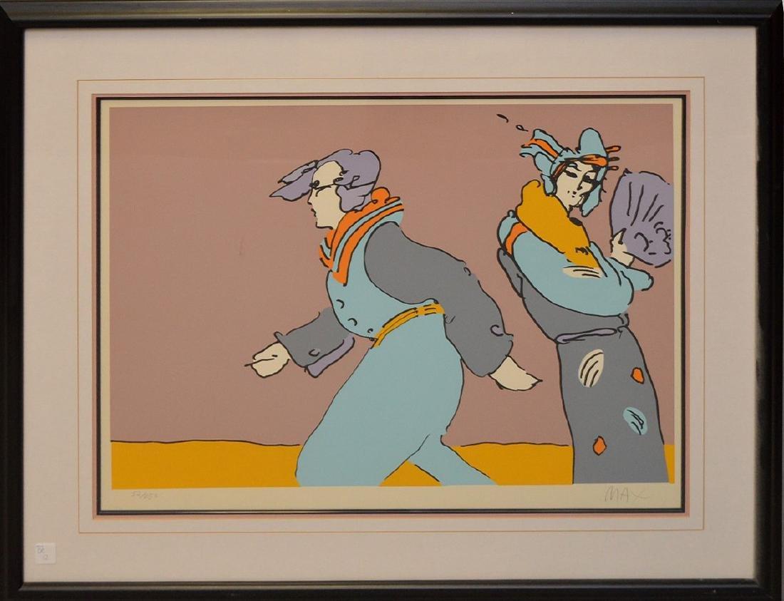 Peter Max (American, born 1937) colored lithograph, - 2