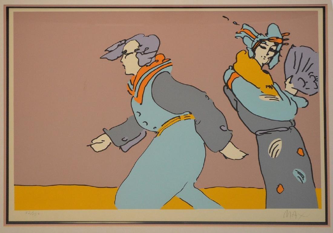 Peter Max (American, born 1937) colored lithograph, - 3