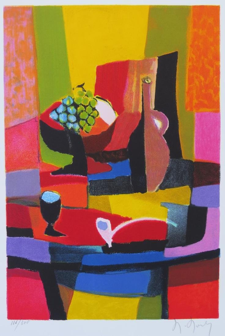 MARCEL MOULY (France, 1918-2008) Color Lithograph on - 2