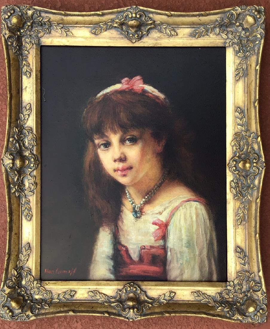 Attributed to: Alexej Harlamoff RUSSIAN Portrait Girl