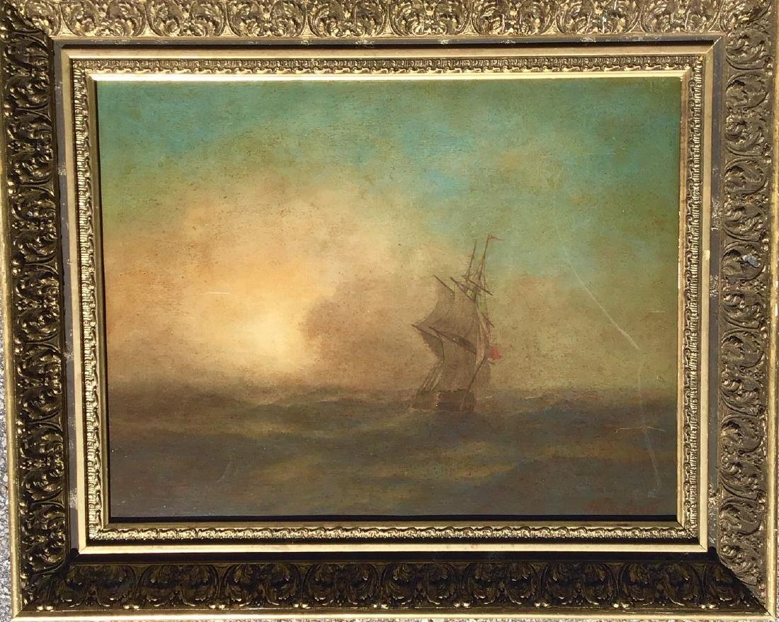 Attributed to: Ivan Aivazovsky, Russian oil on board,