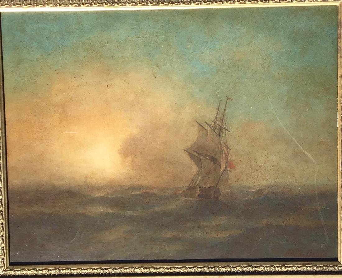 Attributed to: Ivan Aivazovsky, Russian oil on board, - 2