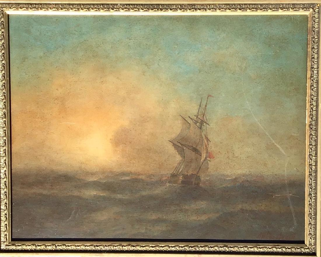 Attributed to: Ivan Aivazovsky, Russian oil on board, - 3