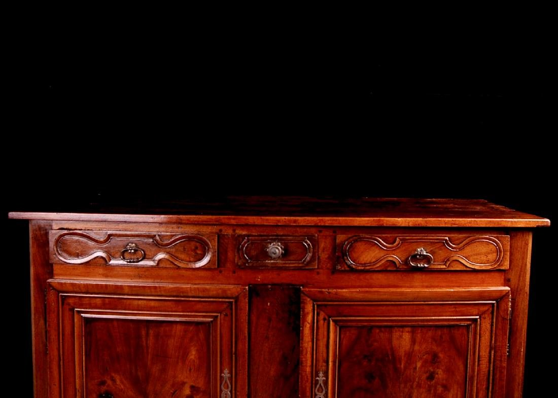 French Antique Walnut Buffet from Burgundy Region, - 4