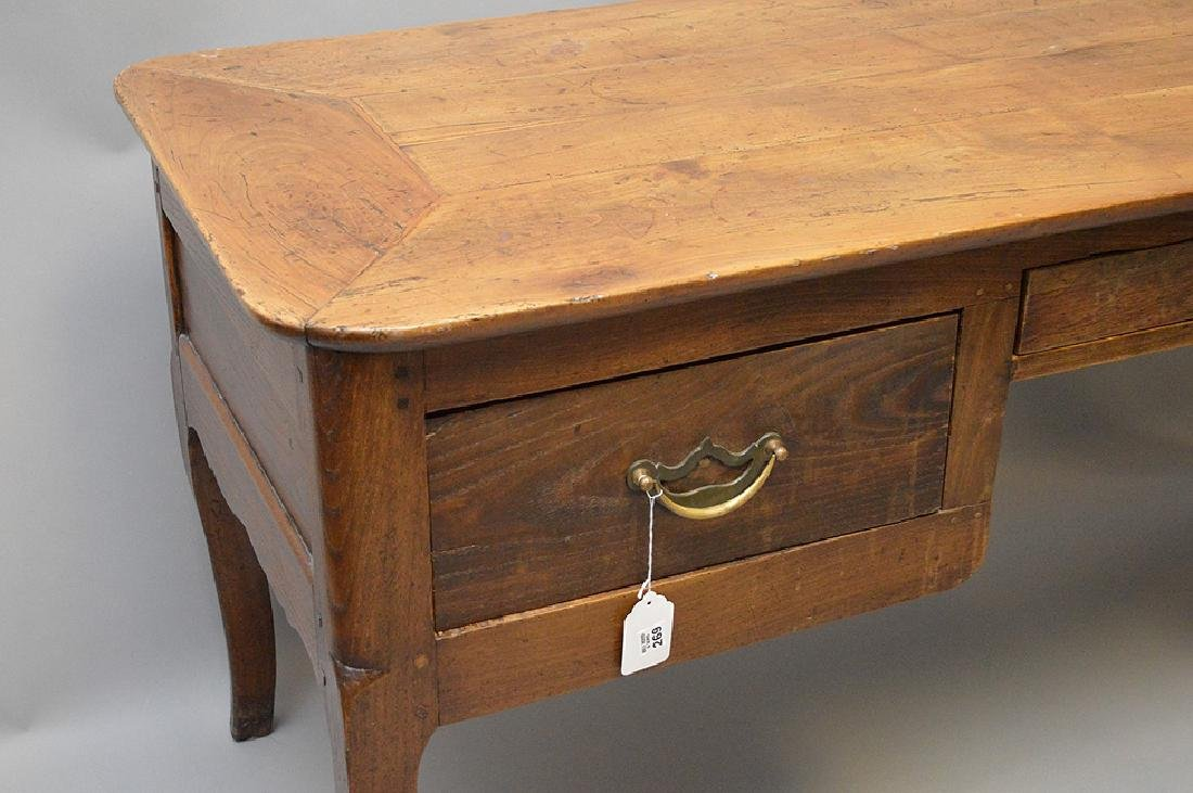Country French desk with faux drawers on one side, 3 - 2