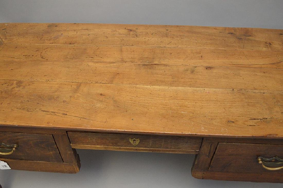 Country French desk with faux drawers on one side, 3 - 3