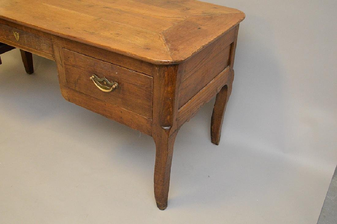 Country French desk with faux drawers on one side, 3 - 4