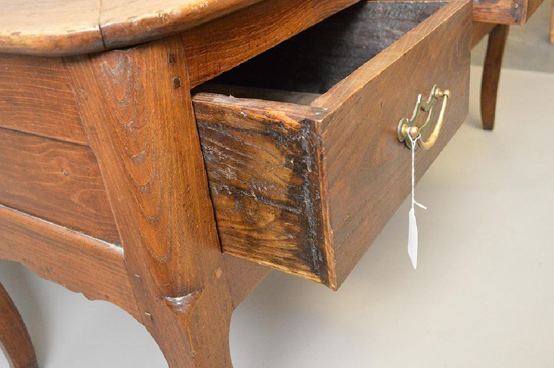 Country French desk with faux drawers on one side, 3 - 5