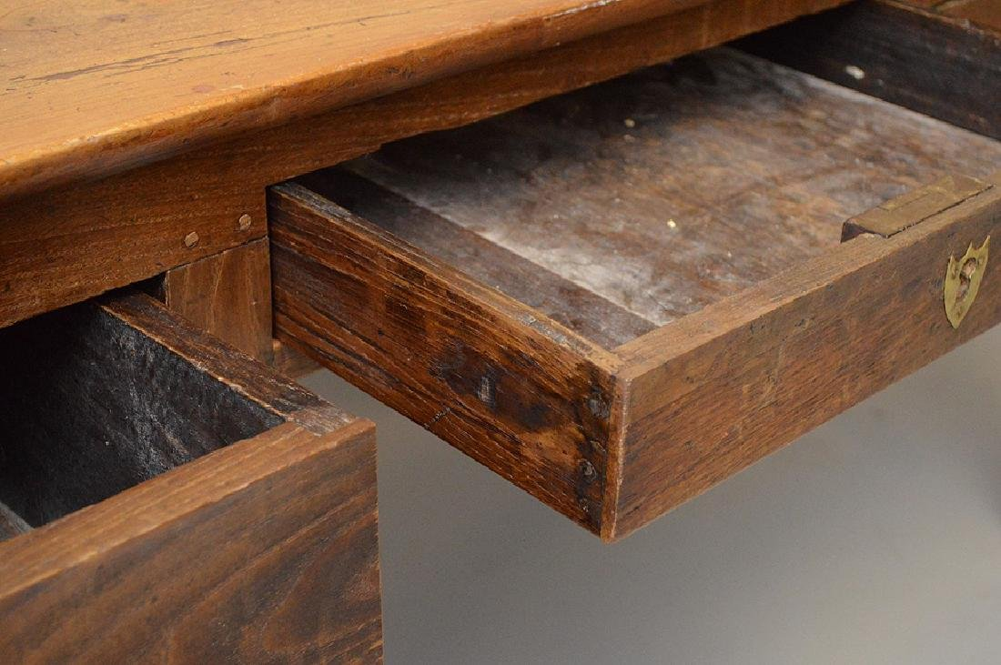 Country French desk with faux drawers on one side, 3 - 6