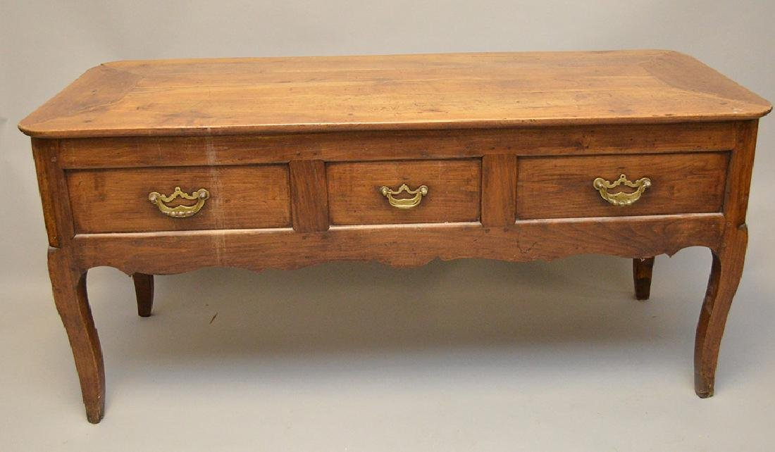 Country French desk with faux drawers on one side, 3 - 7