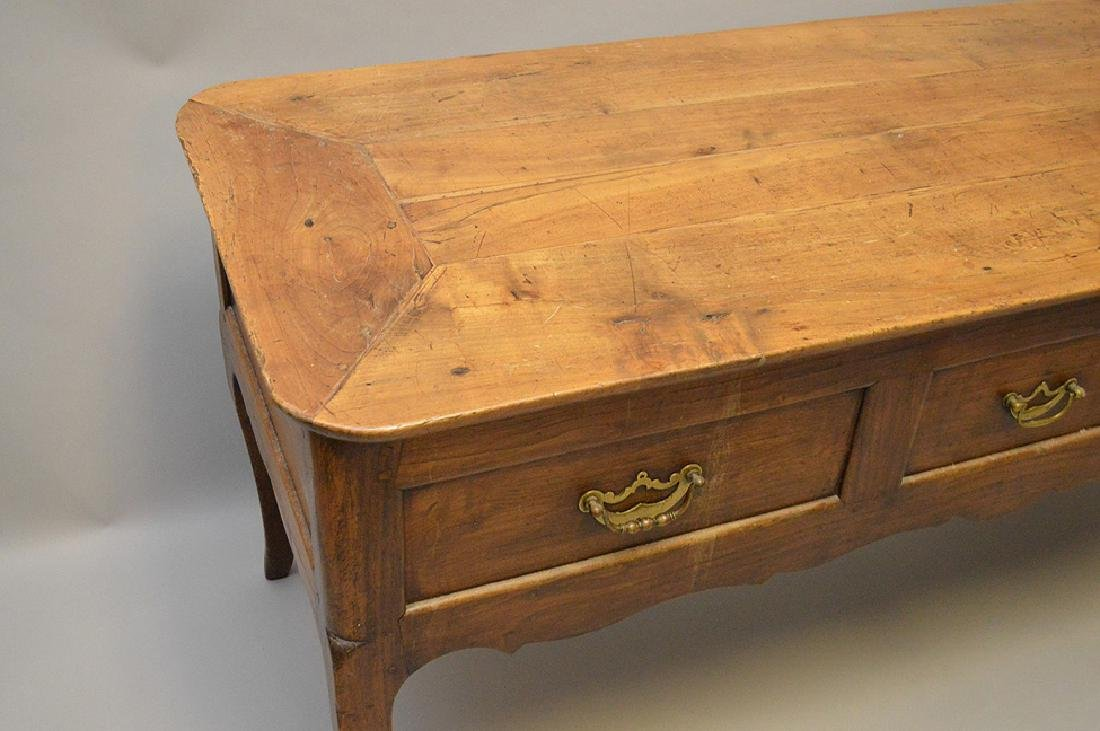 Country French desk with faux drawers on one side, 3 - 8