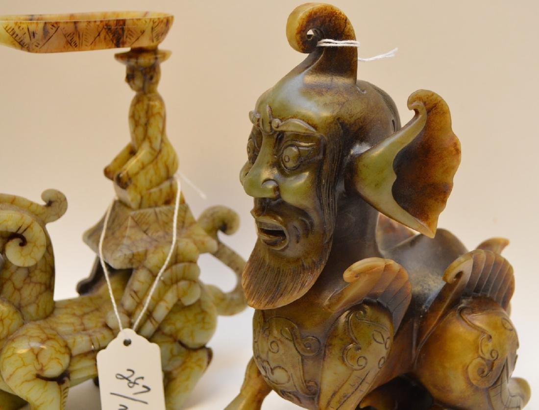 Chinese hardstone mythological Dragon Creatures, Foo - 2