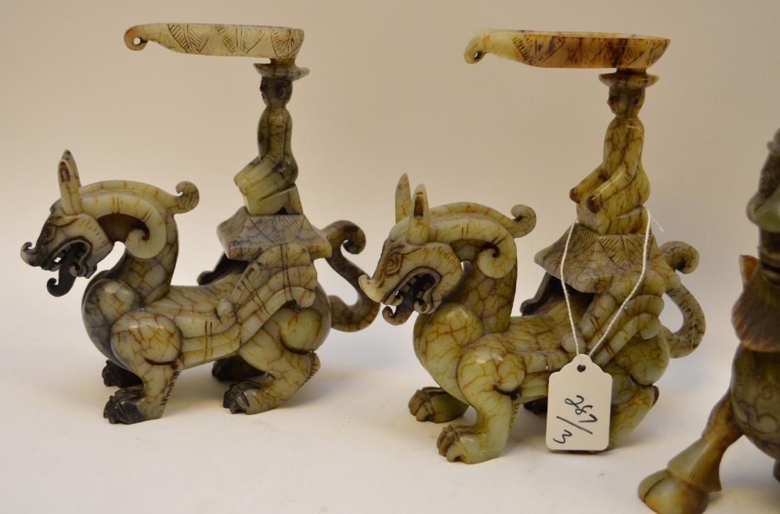 Chinese hardstone mythological Dragon Creatures, Foo - 4