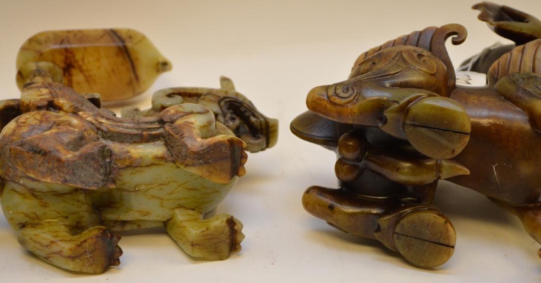 Chinese hardstone mythological Dragon Creatures, Foo - 9
