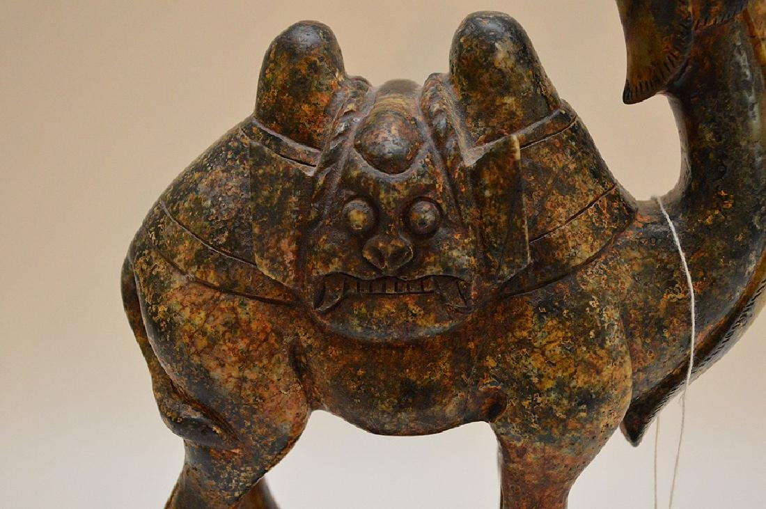 """Soapstone camel, 11 1/8""""h x 8""""w - 2"""