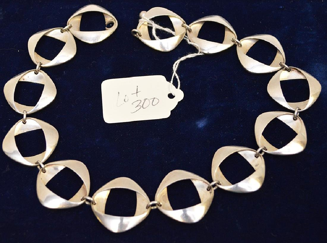 "Georg Jensen Sterling Silver Necklace 925 Denmark 17"""