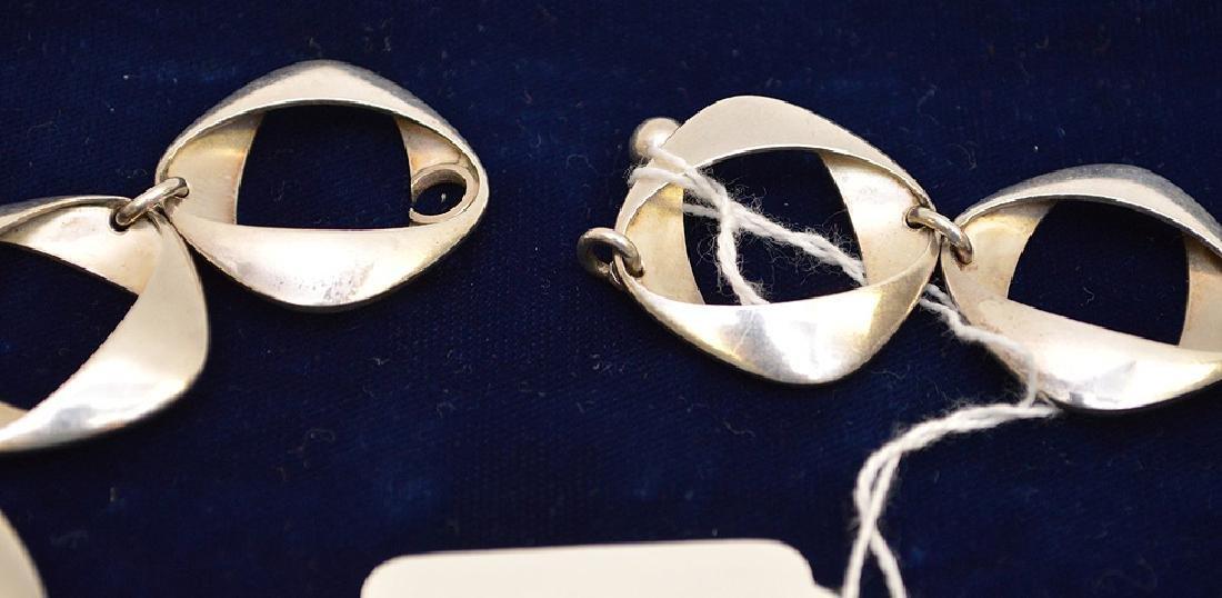"Georg Jensen Sterling Silver Necklace 925 Denmark 17"" - 3"