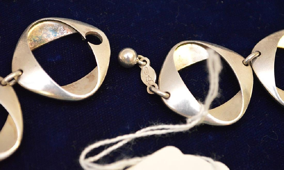 "Georg Jensen Sterling Silver Necklace 925 Denmark 17"" - 5"