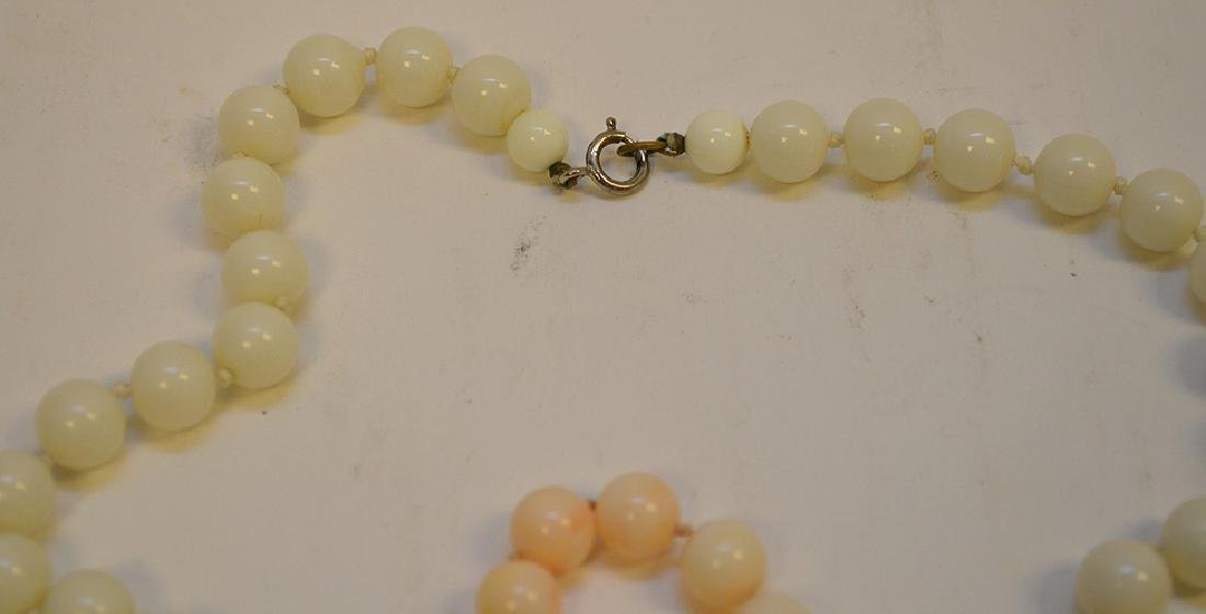 Lot of 3 Angel Skin Coral Necklace two with 14k Gold - 4