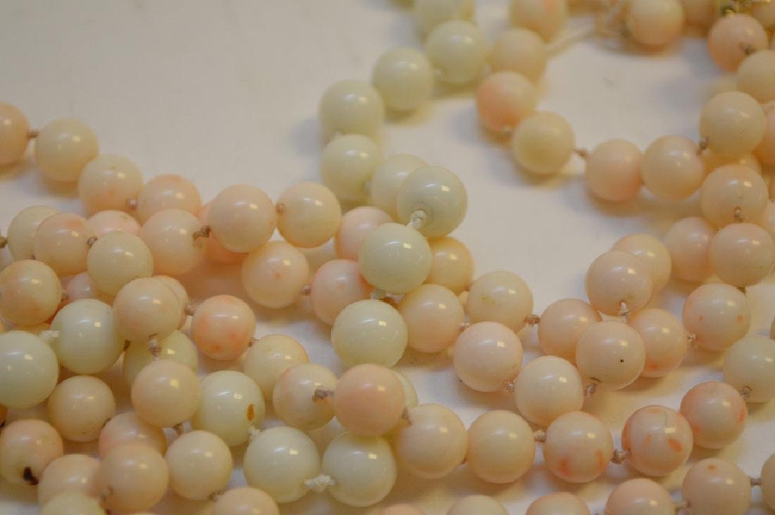 Lot of 3 Angel Skin Coral Necklace two with 14k Gold - 6