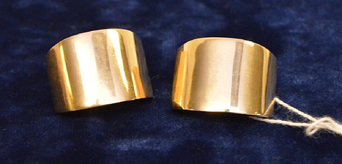 "14k Yellow Gold Earrings wt 14 grams 1.25"" x .75"" good - 2"