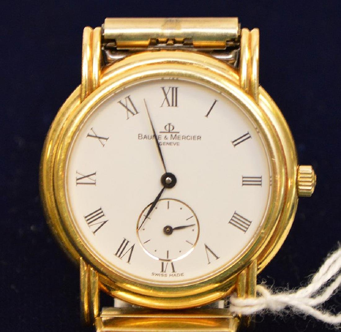 18k Yellow Gold Case Baume & Mercier Men's Watch,