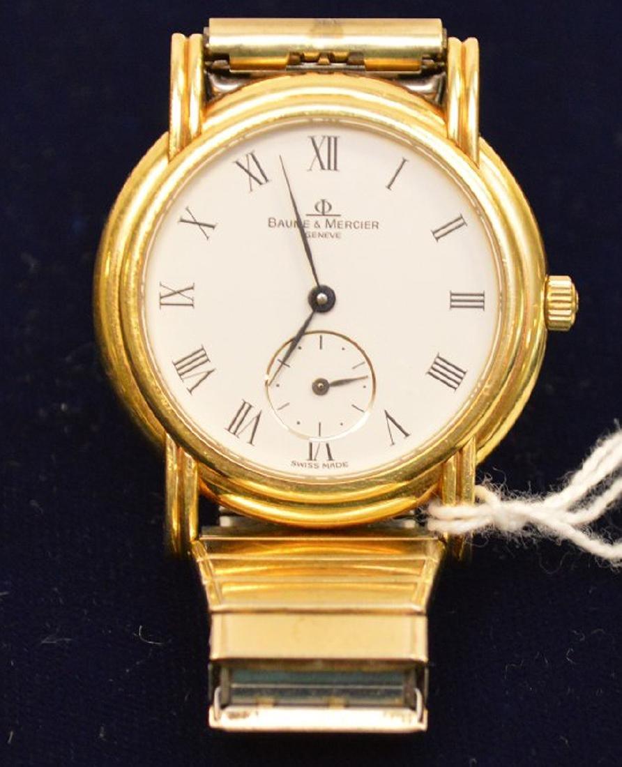 18k Yellow Gold Case Baume & Mercier Men's Watch, - 2