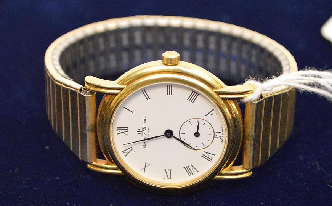 18k Yellow Gold Case Baume & Mercier Men's Watch, - 3