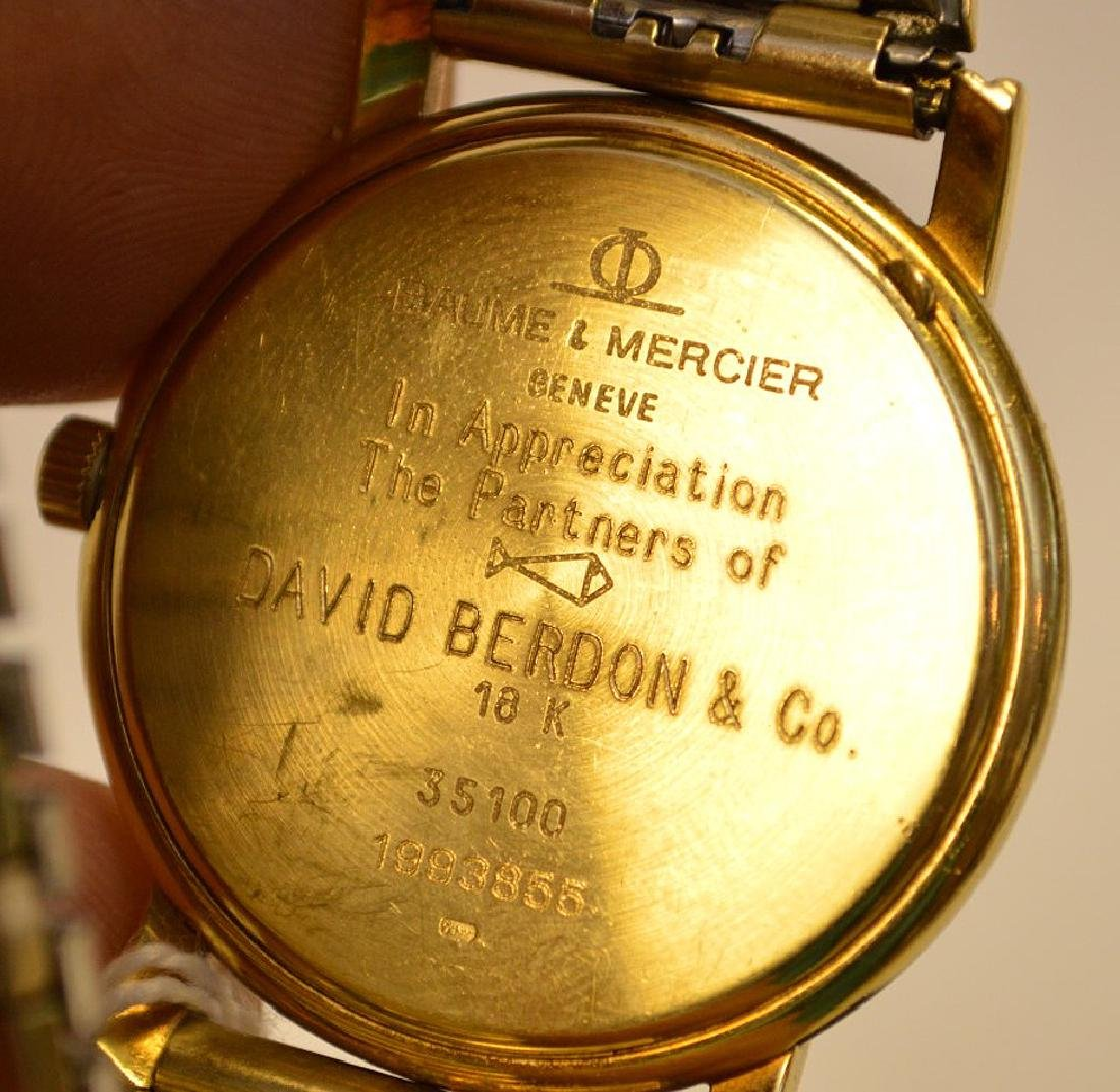18k Yellow Gold Case Baume & Mercier Men's Watch, - 5