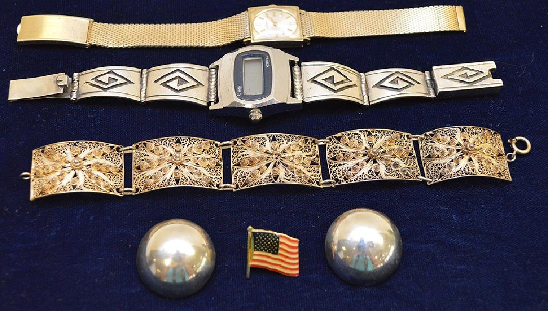 Jewelry lot 2 watches Timex and Longines 10k gold
