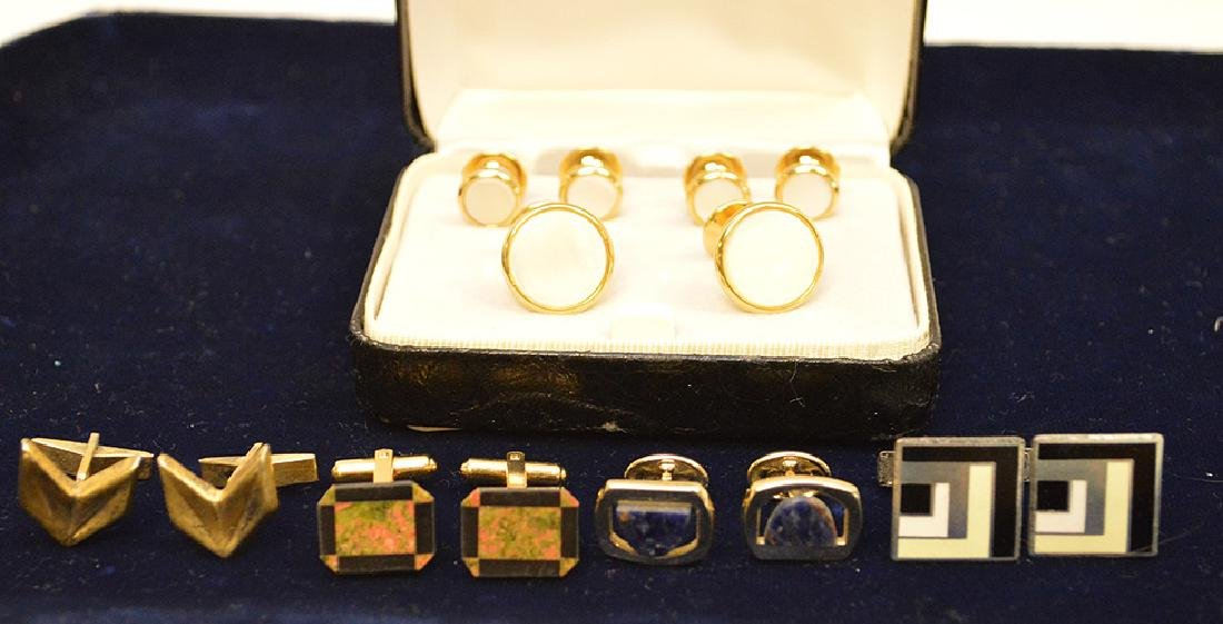Lot of Cufflinks 1 is Sterling, Nordstrom, hayward and - 2