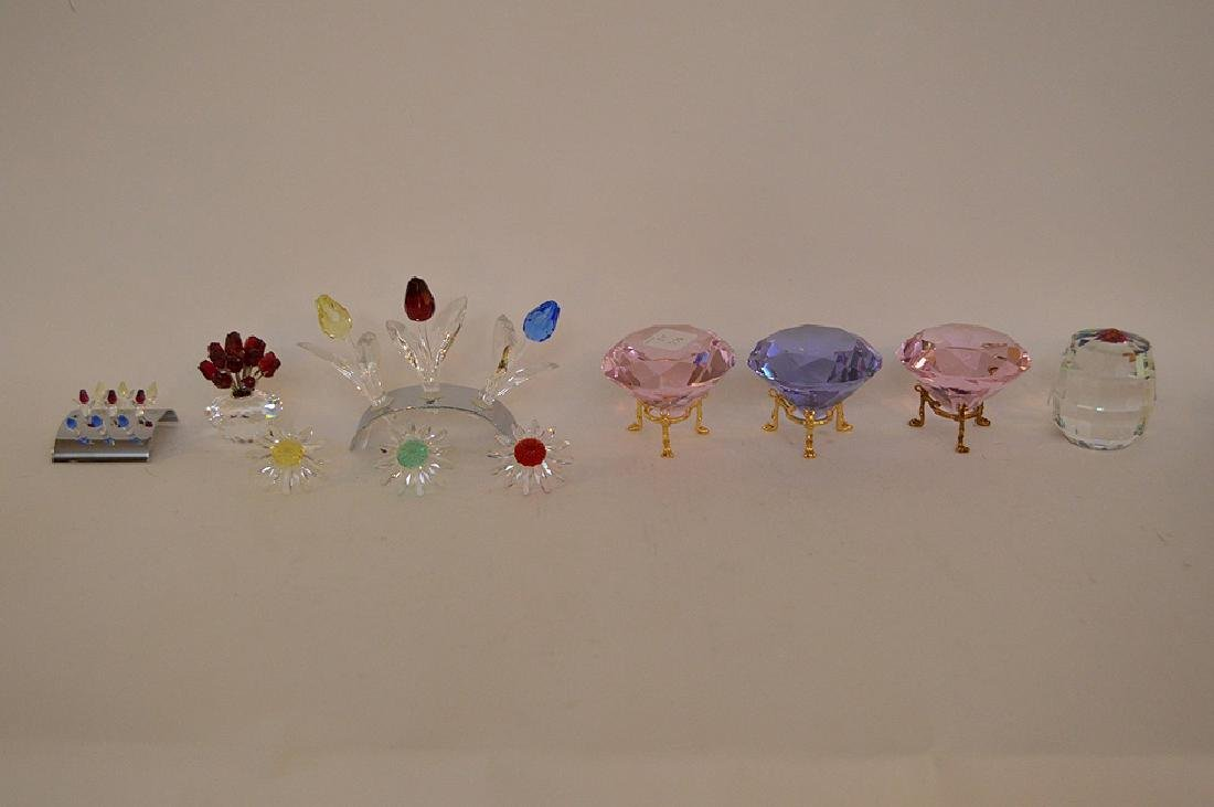 Swarovski Flower and Diamond lot of 12