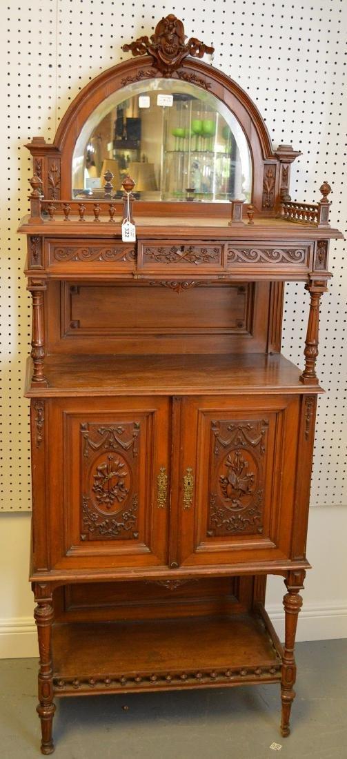 Walnut Music Cabinet, Origin: France  Circa: 1890,