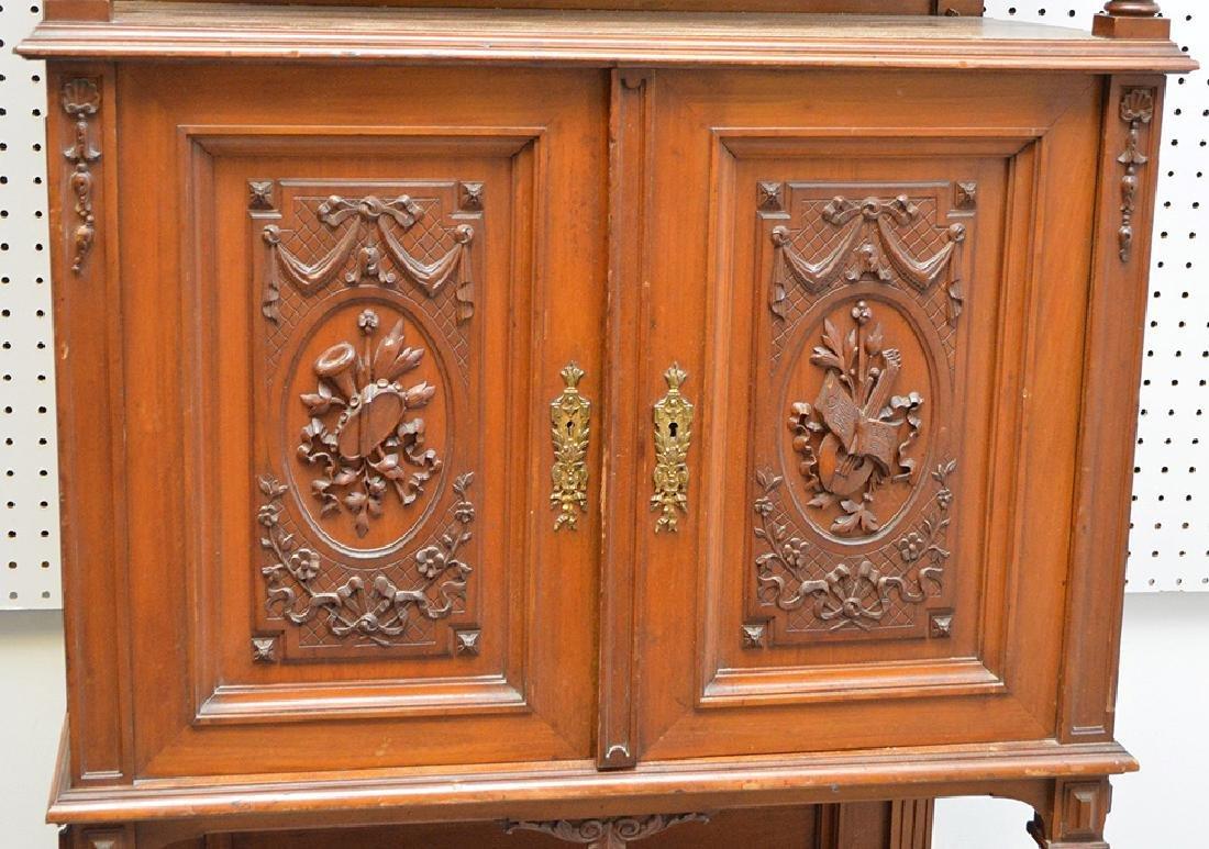 Walnut Music Cabinet, Origin: France  Circa: 1890, - 2