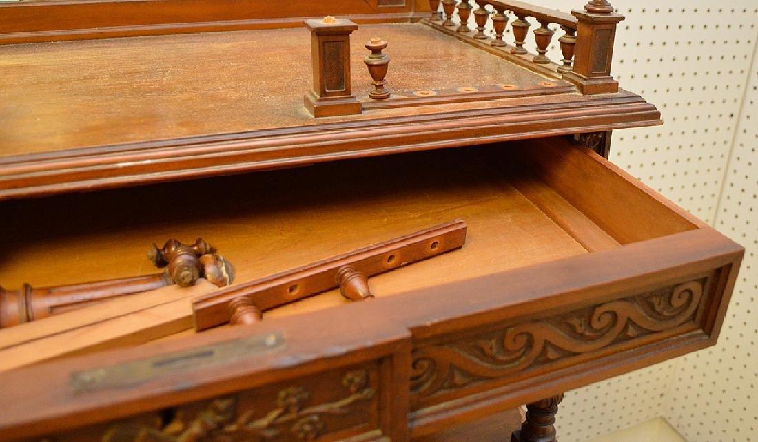 Walnut Music Cabinet, Origin: France  Circa: 1890, - 7