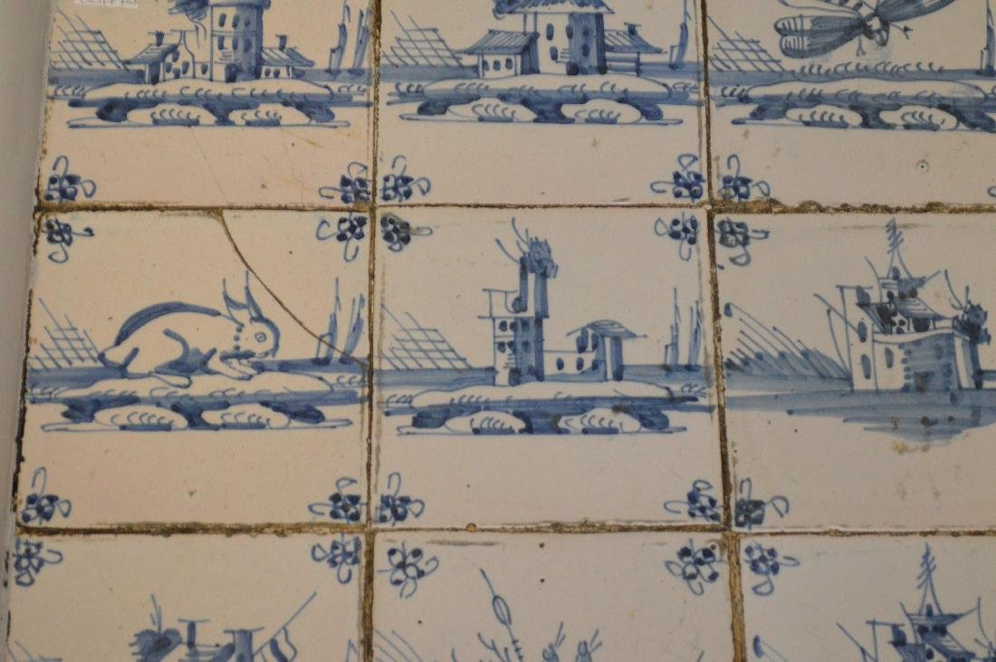 Delft tile table, 18th c. tiles in mid century table - 4