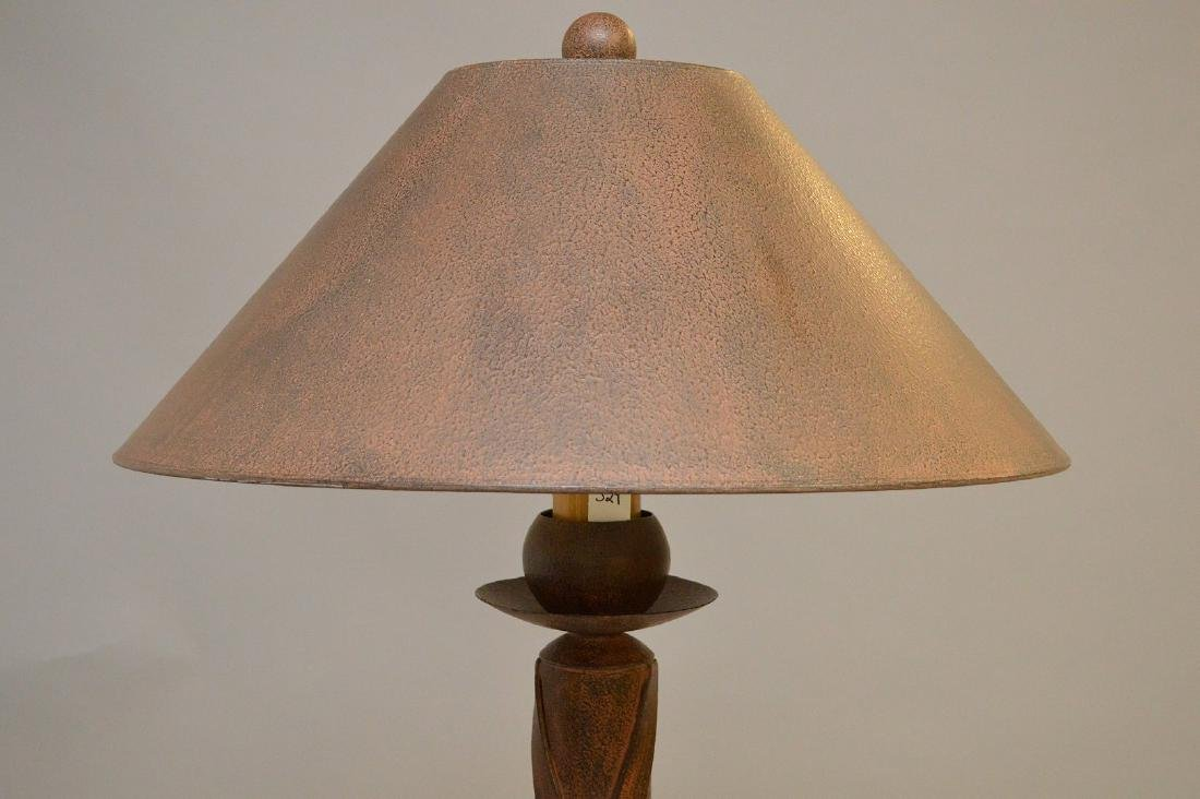 Richard Ray Patinated Metal Floor Lamp.  Condition: - 2