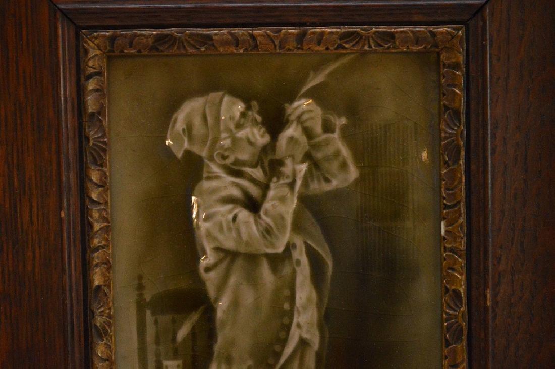 Late 19th c. English framed tile of Victorian Gent - 2