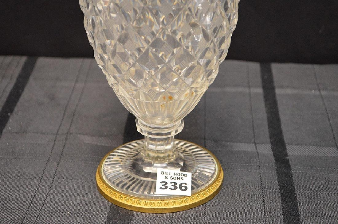 Antique French Hand-Cut Crystal Vase Pineapple Pattern - 3