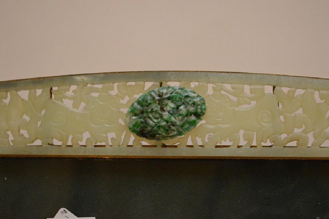 """Carved jade frame, 11"""" x 14"""" - 3"""